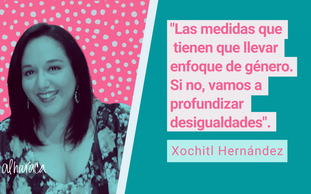 """Xochitl Hernández: """"Estamos gastando todos nuestros cartuchos en esta crisis y esto nos tiene que llevar a discutir sobre una reforma fiscal"""""""